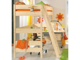 """Детская кровать-чердак """"Pinetta"""" на высоту 183 см из массива сосны"""