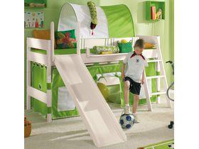 """Детская кровать-чердак с горкой и наклонной лестницей """"Pinetta"""" из массива сосны"""