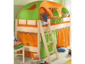 """Детская кровать-чердак с наклонной лестницей """"Pinetta"""" из массива сосны"""