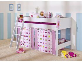 Детская кровать-чердак Sophia высотой 125 см с наклонной лестницей