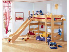 Детская игровая кровать с горкой Varietta высотой 155см из массива бука