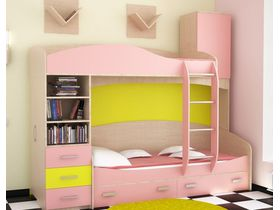 """Детская двухъярусная кровать """"Николя"""" со шкафом"""