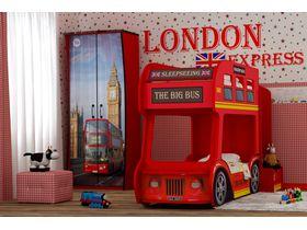 """Двухъярусная кровать автобус """"Лондонский автобус Стандарт"""" под матрасы 170*70"""