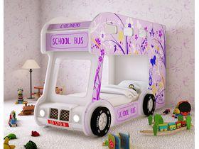 """Двухъярусная кровать машина """"Автобус Настроение"""" для девочек"""
