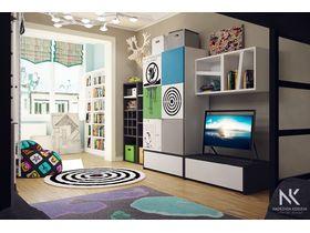 """Детская мебель для двух мальчиков школьников """"Black & White"""""""