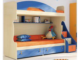 """Детская двухъярусная кровать """"Миа"""" с яркими цветными фасадами (Композиция 1)"""