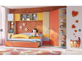 """Детская стенка с разноцветными фасадами """"МИА"""" (Комбинация 1)"""