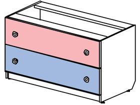 Комод низкий, широкий 2 ящика