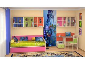 """Детская мебель с кроватью и столом """"Силуэт"""" (Комбинация 3)"""