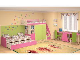"""Компактная мебель для детской комнаты """"Силуэт"""" для двоих детей (Комбинация 4)"""