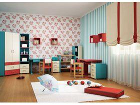 """Детская комната """"Коралловая жемчужина"""" с кроватями из массива бука"""