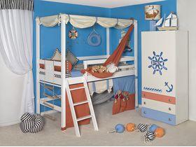 """Набор детской мебели в белом цвете """"Море"""" с кроватями из массива бука"""