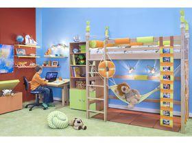 """Детская комната """"Робинзон"""" c кроватями из массива бука"""