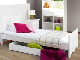"""Детская кровать для девочки """"Принцесса"""" из массива в белом цвете"""