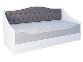 """Кровать-диван в нескольких размерах с мягким изогнутым изголовьем из коллекции """"Flash Grey"""""""