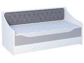 """Кровать-диван в нескольких размерах с мягким прямым изголовьем из коллекции """"Flash Grey"""""""