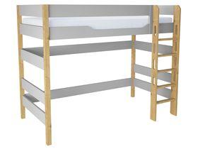 """Кровать чердак из массива бука """"Flash Grey"""" в нескольких размерах"""