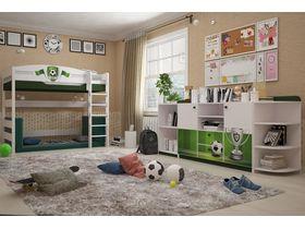 """Детская комната с кроватью домиком из массива бука """"Футбол"""""""