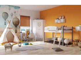 """Светлая комната для мальчика """"Гео"""" с кроватью из массива бука"""