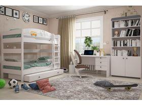 """Детская комната для двоих детей """"Гео"""" с кроватью из массива бука"""