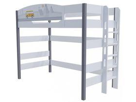 """Кровать чердак 160 см и лестницей с торца """"Гео"""""""