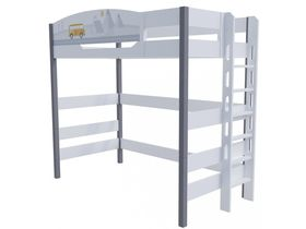 """Кровать чердак 180 см и лестницей с торца """"Гео"""""""