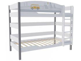 """Детская двухъярусная кровать в детскую 160 см """"Гео"""""""