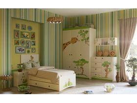 """Светлая детская комната с кроватью """"Джунгли зовут"""""""