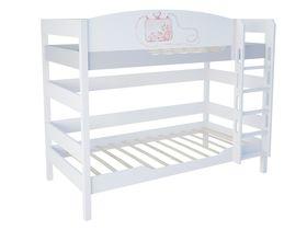 """Детская двухъярусная кровать 160 см из массива бука """"La Princess"""""""