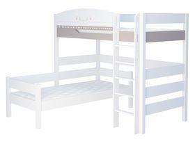 """Детская двухъярусная угловая кровать из массива бука """"Монкур"""""""