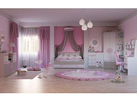 """Детская комната для девочек с кроватью диваном """"Mon coure"""""""