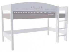 """Кровать чердак в детскую из массива бука на высоту 120 см """"Mon coure"""""""