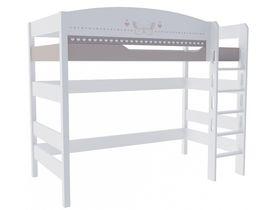 """Кровать чердак из массива бука в детскую на высоту 160 см """"Mon coure"""""""