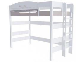 """Кровать чердак 160 см и лестницей с торца """"Mon coure"""""""