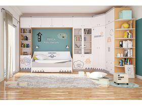 "Детская комната ""New Age Orange"" с цветом корпуса ""Бук"""