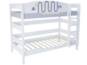 """Детская двухъярусная кровать 160 см из массива бука """"New Age Orange"""""""