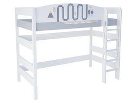 """Кровать чердак 160 см из массива бука """"New Age Orange"""""""