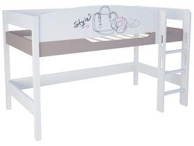 """Кровать чердак из массива бука на высоту 120 см в комнату для девочки """"Парижанка"""""""
