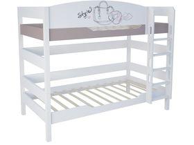"""Двухъярусная кровать 160 см в комнату для девочек из массива бука """"Парижанка"""""""