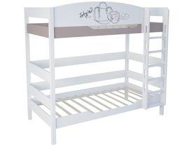 """Двухъярусная кровать трансформер в детскую 180 см """"Парижанка"""""""