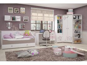 """Детская стенка с кроватью диваном в комнату девочки """"Парижанка"""""""