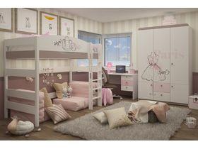 """Комната для двух девочек с двухъярусной кроватью из массива бука """"Парижанка"""""""