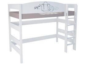 """Кровать чердак 160 см из массива бука """"Парижанка"""""""