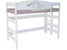 """Кровать чердак 160 см и лестницей с торца """"Парижанка"""""""
