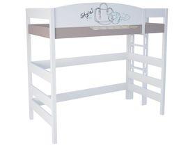 """Кровать чердак 180 см и лестницей с торца """"Парижанка"""""""