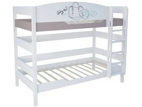 """Детская двухъярусная кровать 160 см из массива бука """"Парижанка"""""""