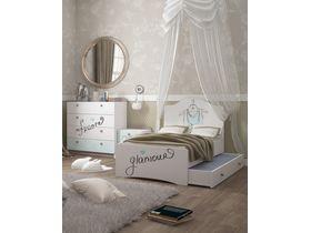"""Кровать c фигурным изголовьем из коллекции """"Парижанка"""""""