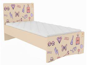 """Детская кровать для девочек """"Париж"""" в нескольких размерах"""