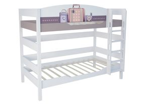 """Светлая двухъярусная кровать 160 см в комнату из массива бука """"Париж"""""""