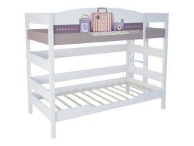 """Двухъярусная кровать 160 см и лестницей с торца """"Париж"""""""